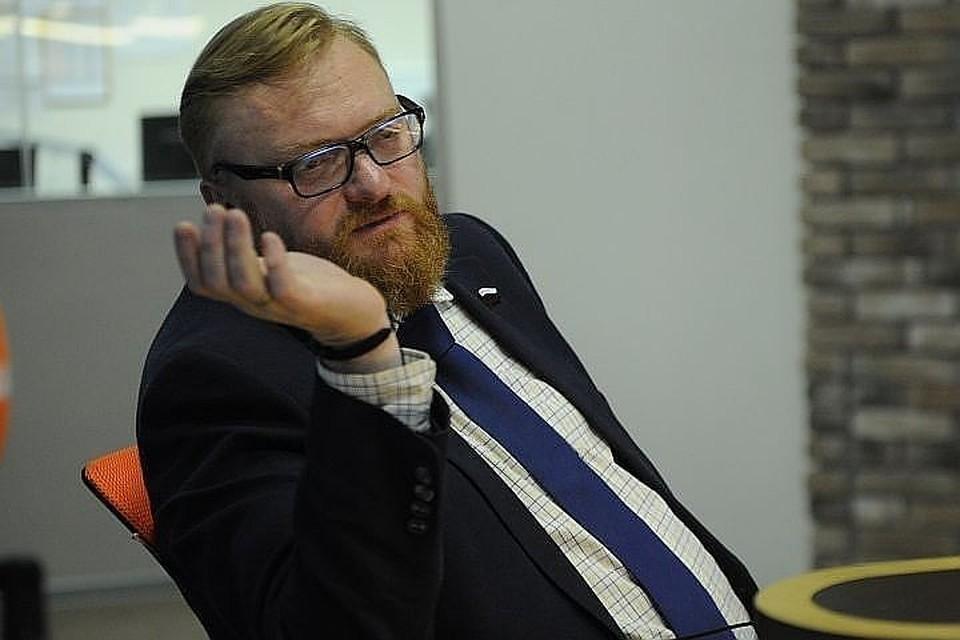 Виталий Милонов предлагает штрафовать от сотни тысяч до одного миллиона рублей тех, кто специально будоражит народ клеветой