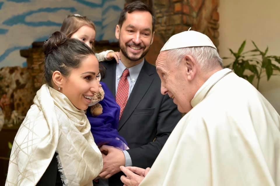 Светлана Касьян с семьей в гостях у Папы