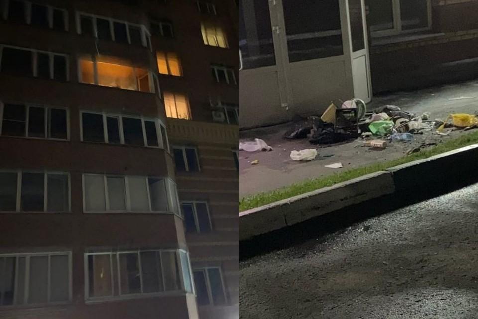 Вещи выкинули из окна многоэтажки. Фото: предоставлено героем публикации