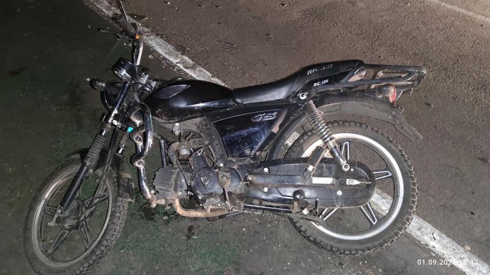 42-летний водитель не справился с управлением мопедом. Фото: Госавтоинспекция Орловской области
