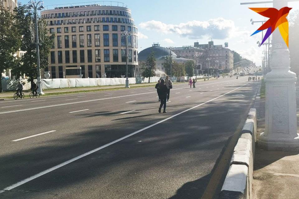 Проспект Независимости в Минске стал пешеходным. Фото читателя kp.by.