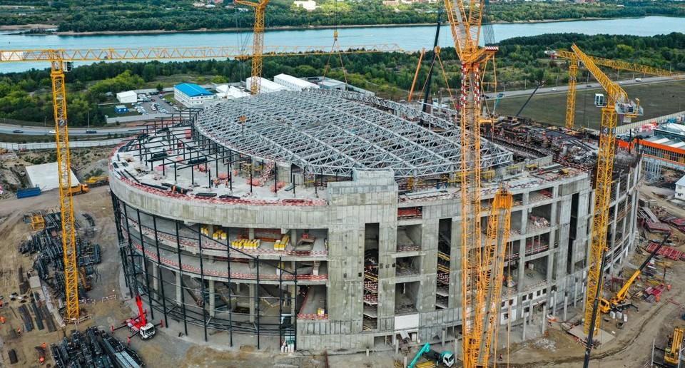 Так на данный момент выглядит строящаяся «Арена Омск». Фото: ХК «Авангард»