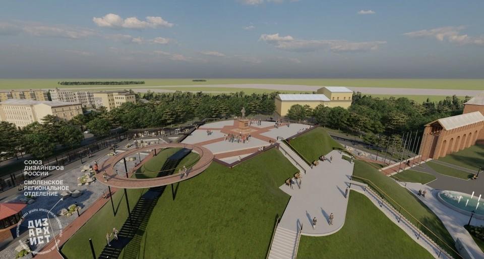 Смоленские дизайнеры представили проект преобразования Шеинова бастиона. Фото: пресс-служба администрации города Смоленска.