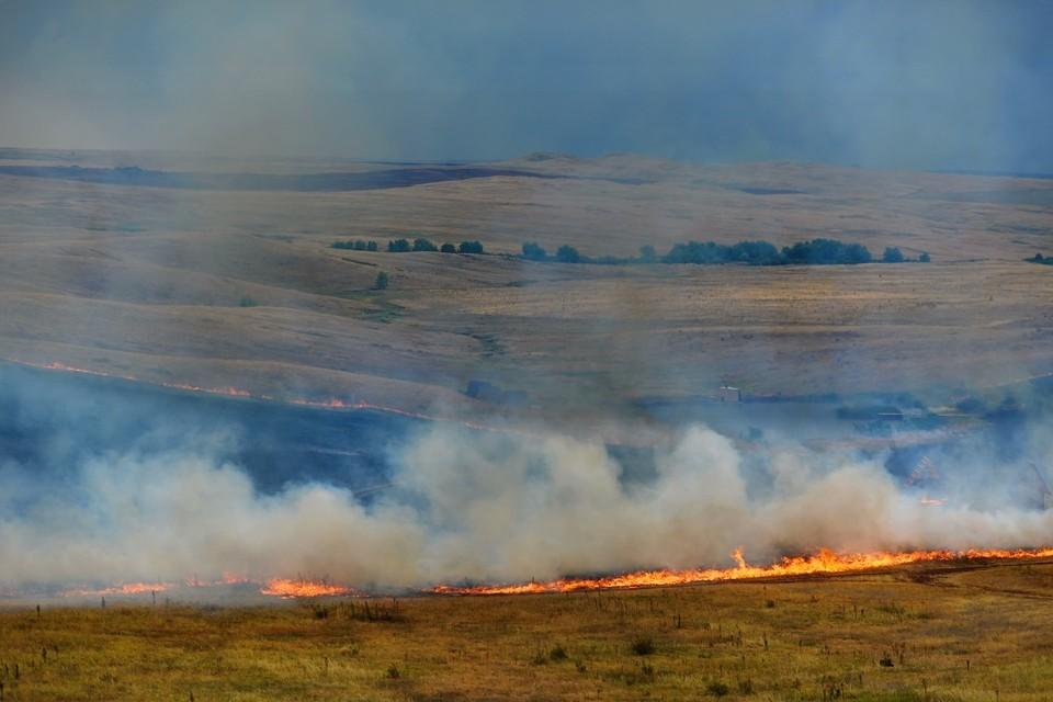 В Новосибирской области участились ландшафтные пожары.