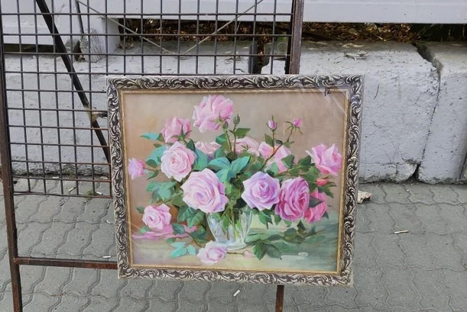 Художник оценил свою картину в 12 тысяч рублей. Фото: УМВД по Екатеринбургу