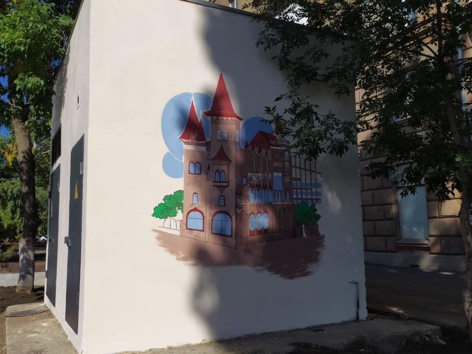 На граффити изображен один из символов Саратова